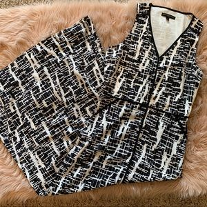 Banana Republic Black / White Maxi Dress size 4